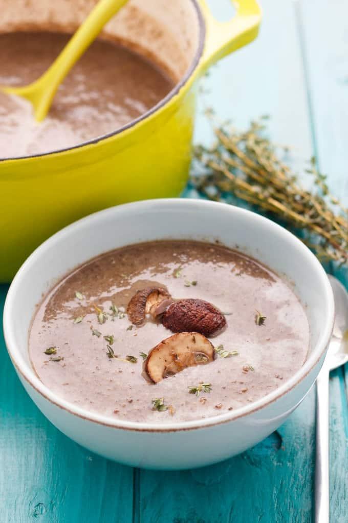 Milestones' Roasted Mushroom Soup #soup