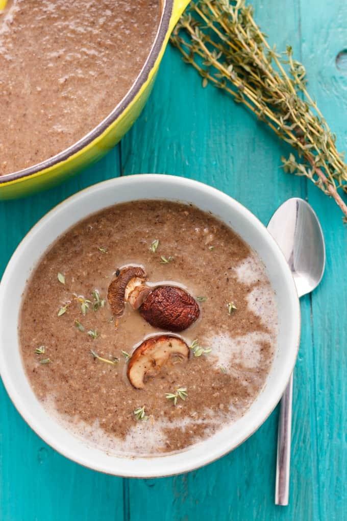 Milestones' Roasted Mushroom Soup