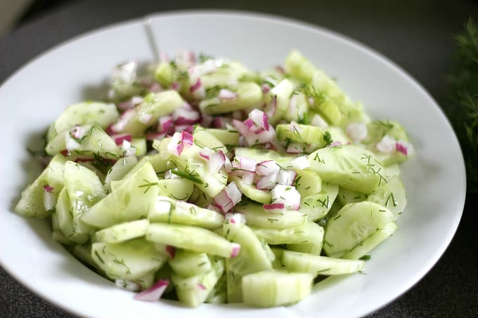 Cucumber Salad with Fresh Dill 2