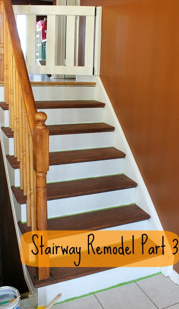 Make Sure To Take A Look At Part One And Part Two To See How We Ripped Out  Our Old Carpet And Went About Staining The New Stair Treads.