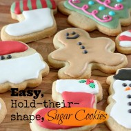 Easy Sugar Cookies that hold their Shape