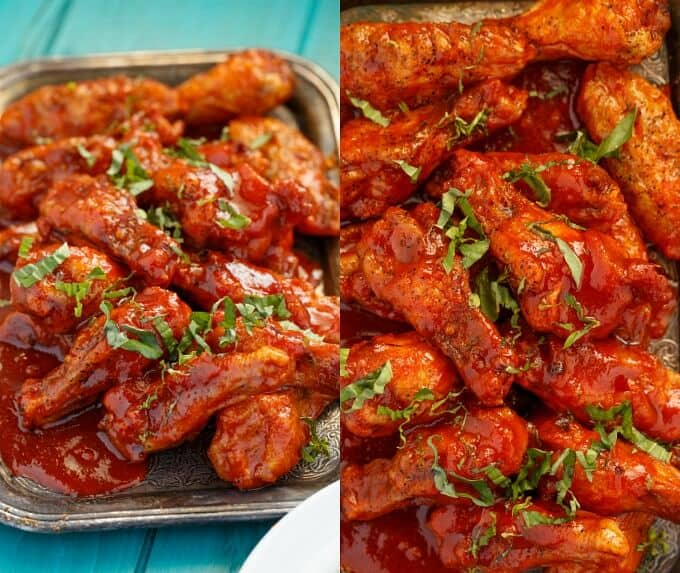 Baked Sriracha Chicken Wings - The Cookie Writer