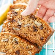 Chocolate Chip Banana Bread with Coconut and Nuts