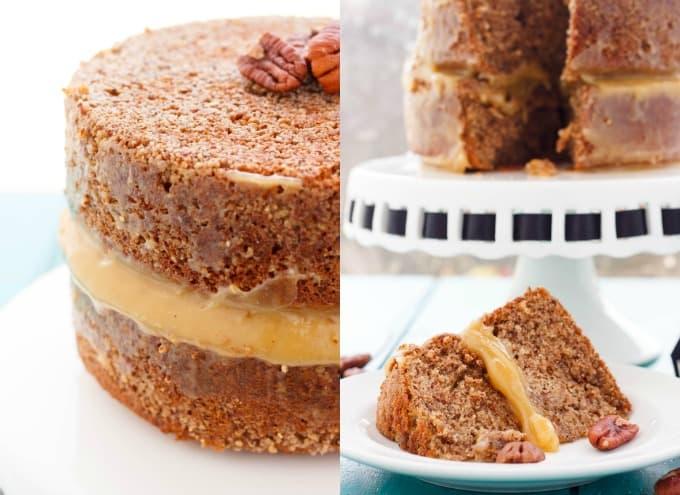 Pecan Pie Cake! #piecake