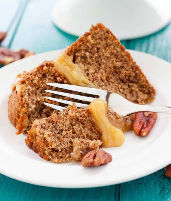 Pecan Pie Cake! #slice
