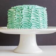 Swiss Meringue Buttercream Ribbon Cake