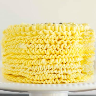 Lemon Swiss Meringue Buttercream Cake