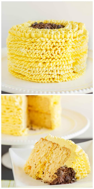 Lemon Cake With Swiss Meringue Buttercream