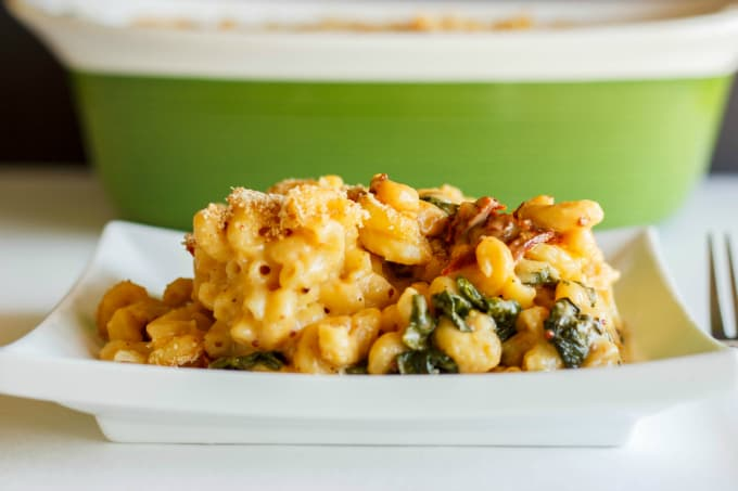Macaroni and Cheese with Sun-dried Tomatoes and Spinach 3