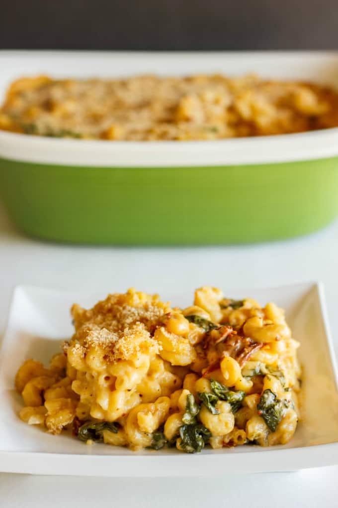 Macaroni and Cheese with Sun-dried Tomatoes and Spinach 4
