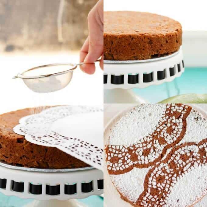 Chocolate Zucchini Cake #decorating