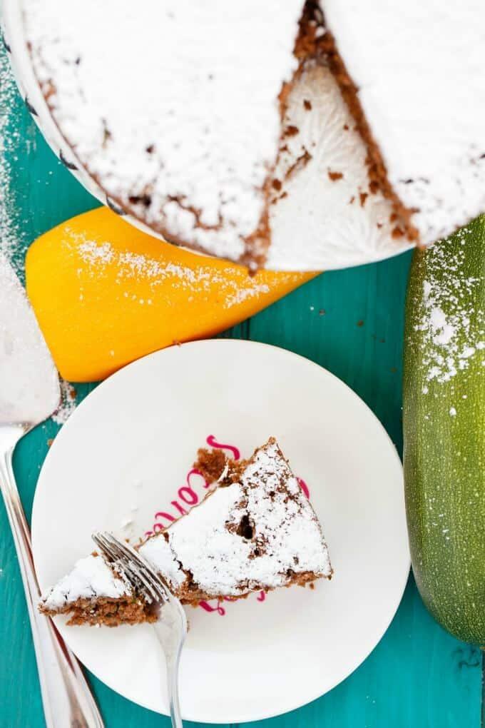 Chocolate Zucchini Cake #sugar