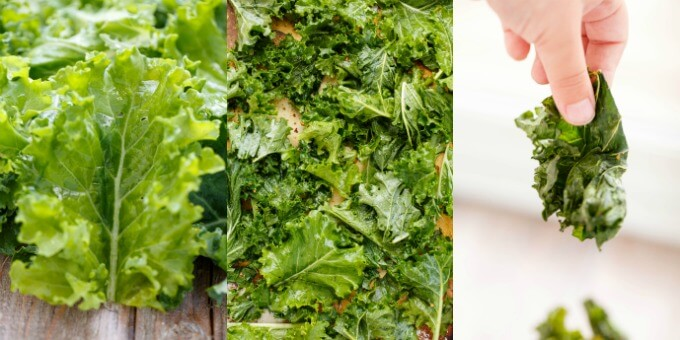Coconut Oil Kale Chips #healthy