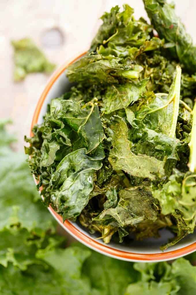 Coconut Oil Kale Chips #kale