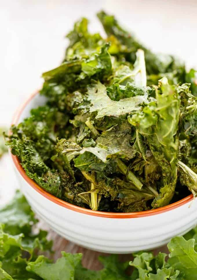 Coconut Oil Kale Chips #vegan