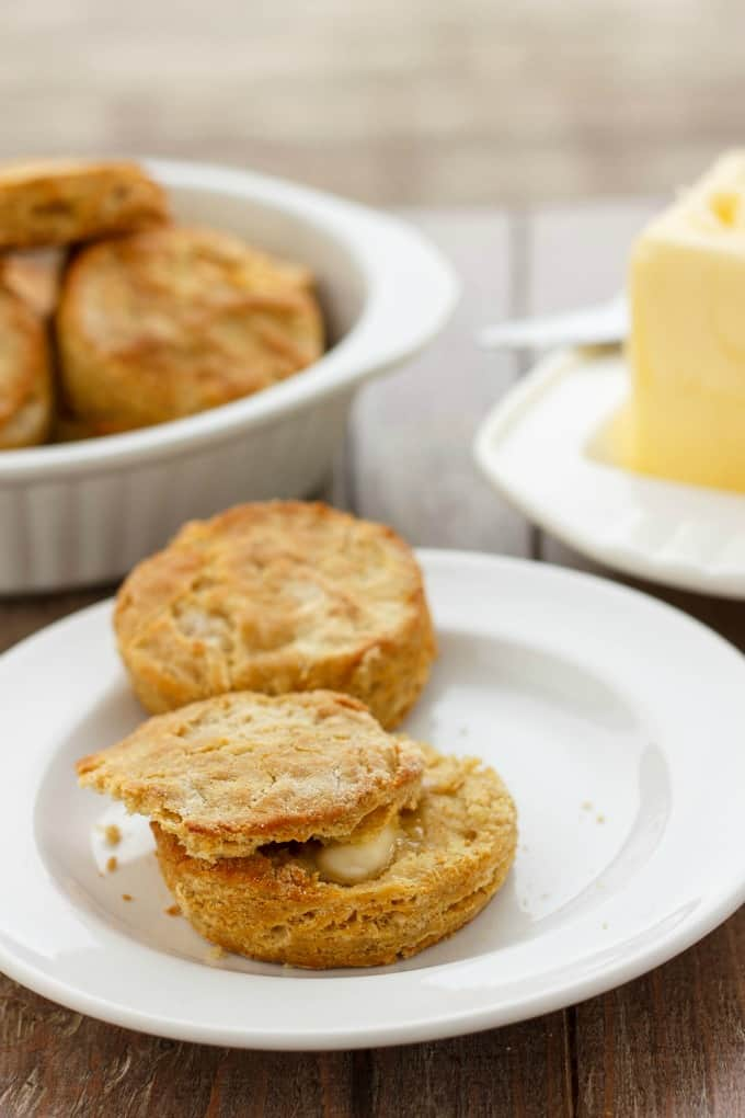 Gluten-Free Biscuits made with Robin Hood Nutri Flour Blend #butter