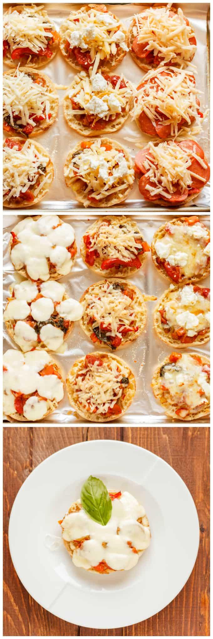 Mini Pizzas on English Muffins 1