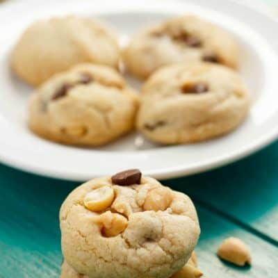 No Butter Chocolate Chip Cookies with Peanuts