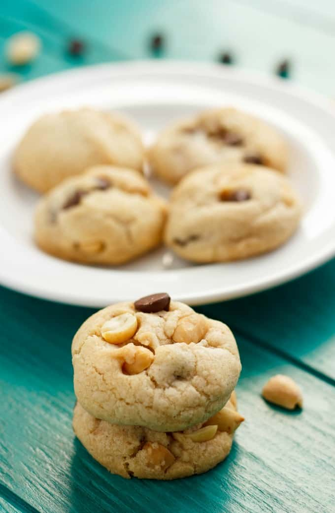 No Butter Chocolate Chip Cookies with Peanuts #nobutter