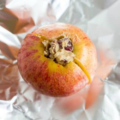Easy Baked Camping Apples