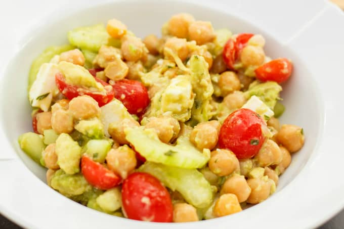 Chickpea, Cucumber, and Avocado Salad 1