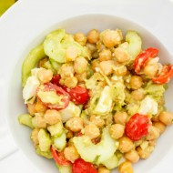 Chickpea, Cucumber, and Avocado Salad