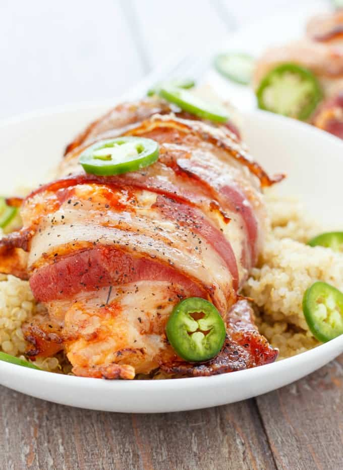 Jalapeno Popper Stuffed Chicken #glutenfree