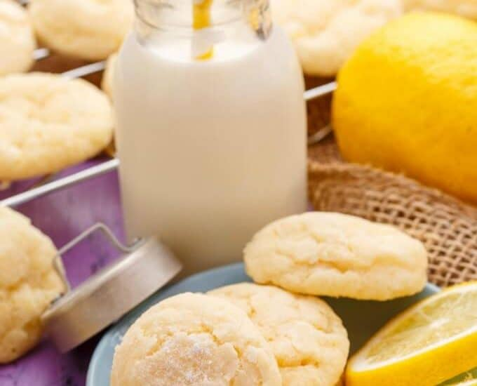 Lemon and Almond Cookie Crinkles