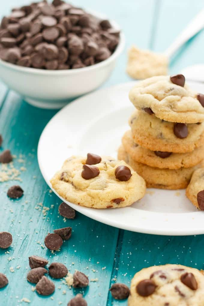 Soft and Chewy Chocolate Chip Cookies #chocolate