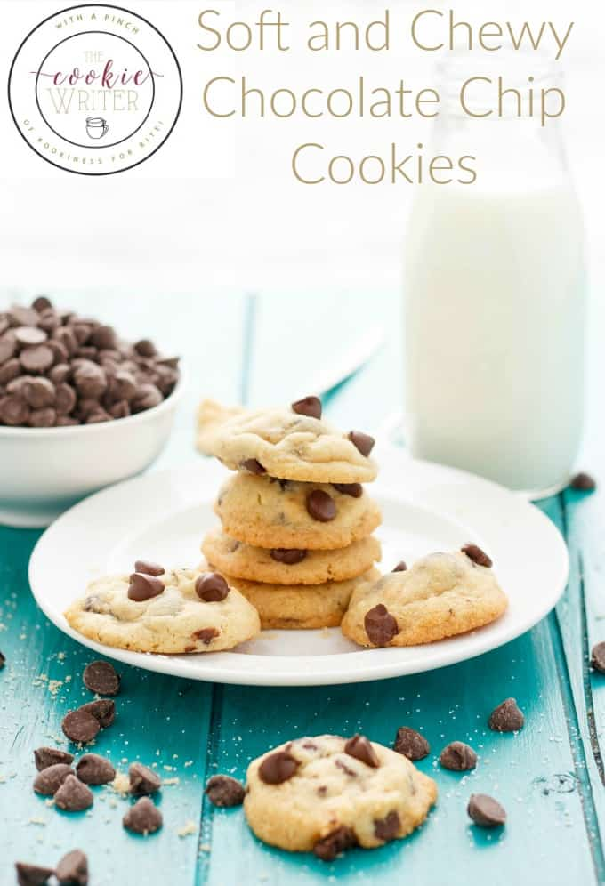 Soft and Chewy Chocolate Chip Cookies #chocolatechipcookies