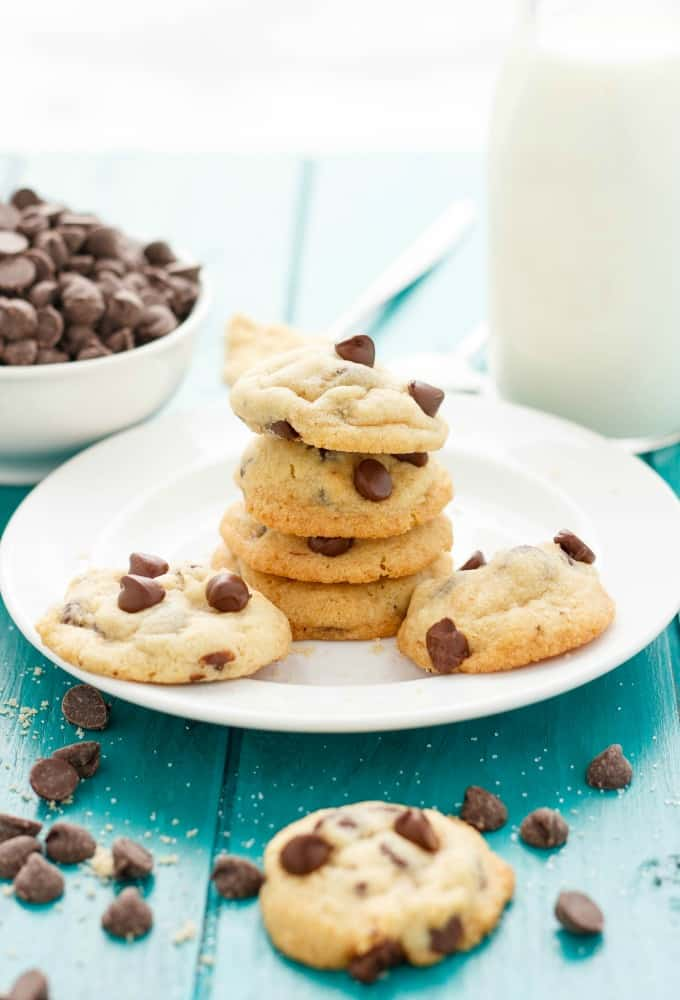 Soft and Chewy Chocolate Chip Cookies #cookies