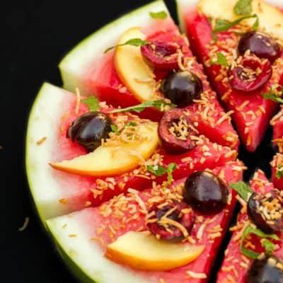 Vegan Watermelon Pizza Dessert