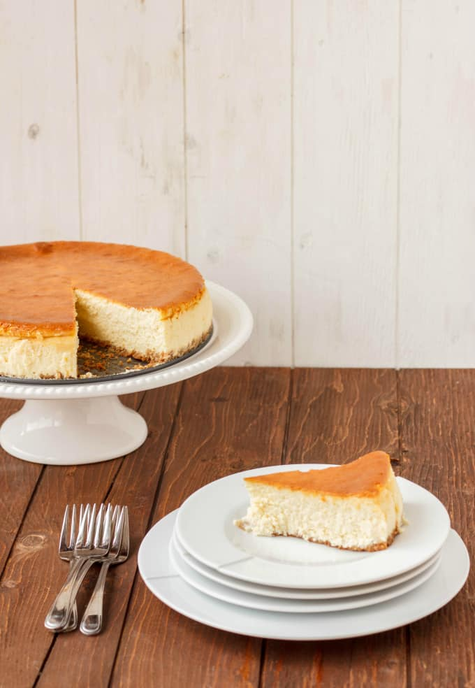 New York Style Cheesecake with Strawberry Topping 2