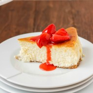 New York Style Cheesecake with Strawberry Topping