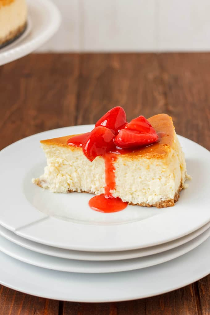 New York Style Cheesecake with Strawberry Topping 3