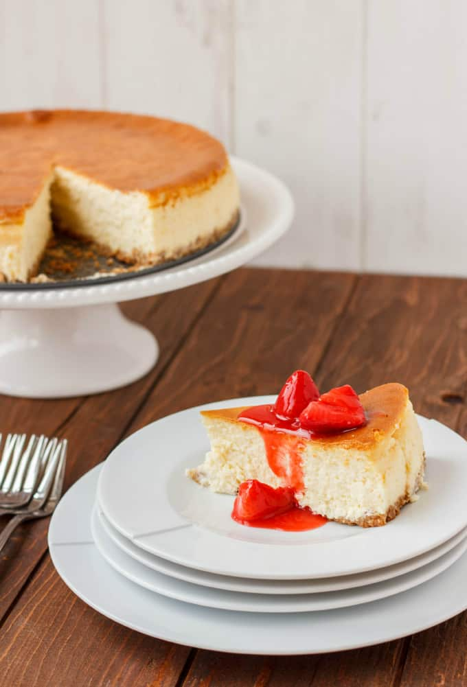 New York Style Cheesecake with Strawberry Topping 4