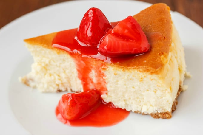 New York Style Cheesecake with Strawberry Topping 6