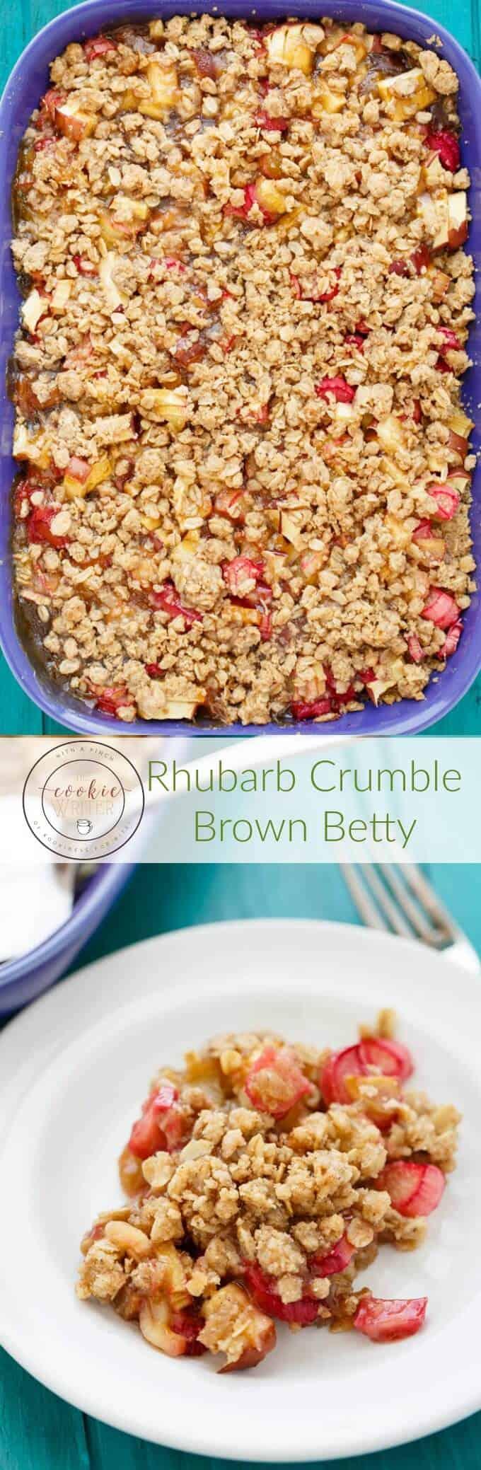 Rhubarb Crumble Brown Betty