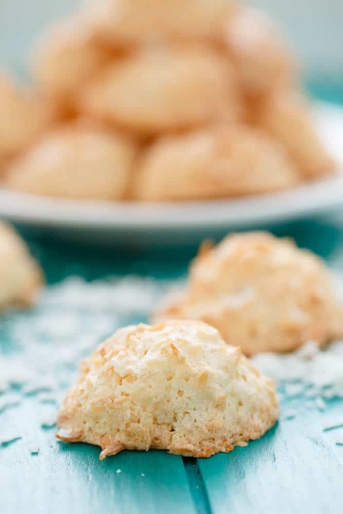 Semi-Toasted Coconut Macaroons #glutenfree