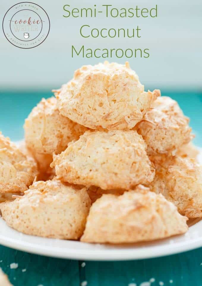 Semi-Toasted Coconut Macaroons