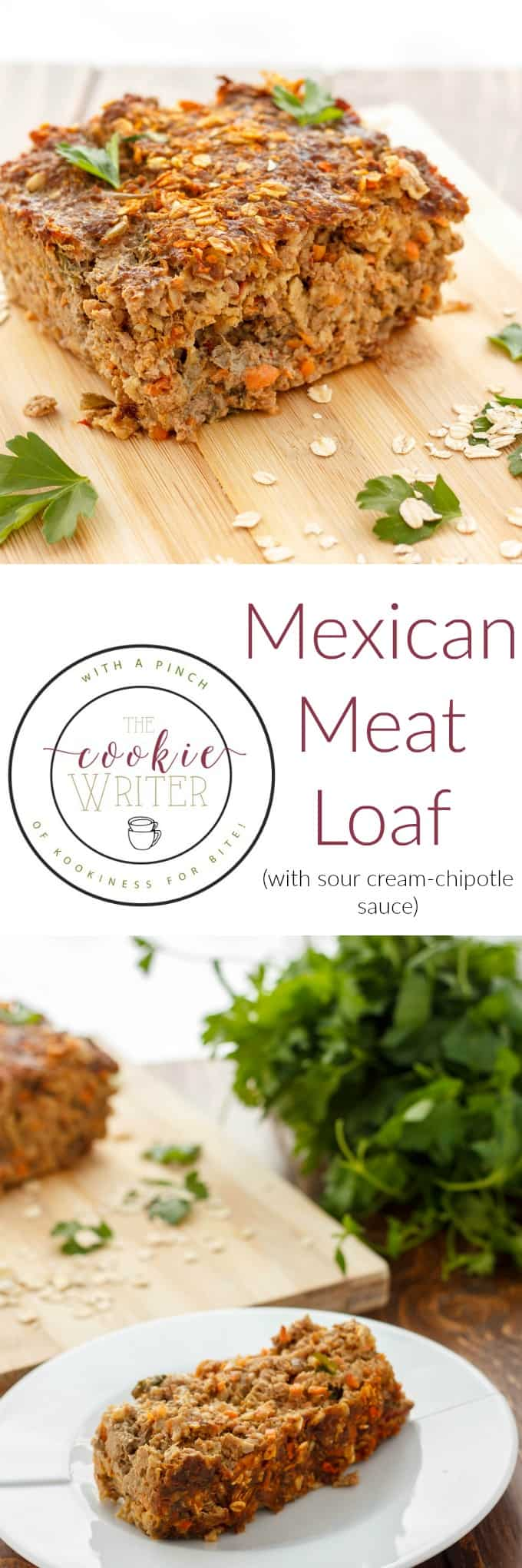 Mexican Meat Loaf with Sour Cream-Chipotle Sauce) #dinner