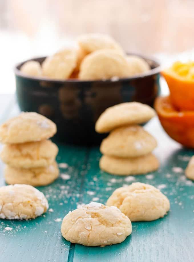 Orange Cookie Crinkles #dessert