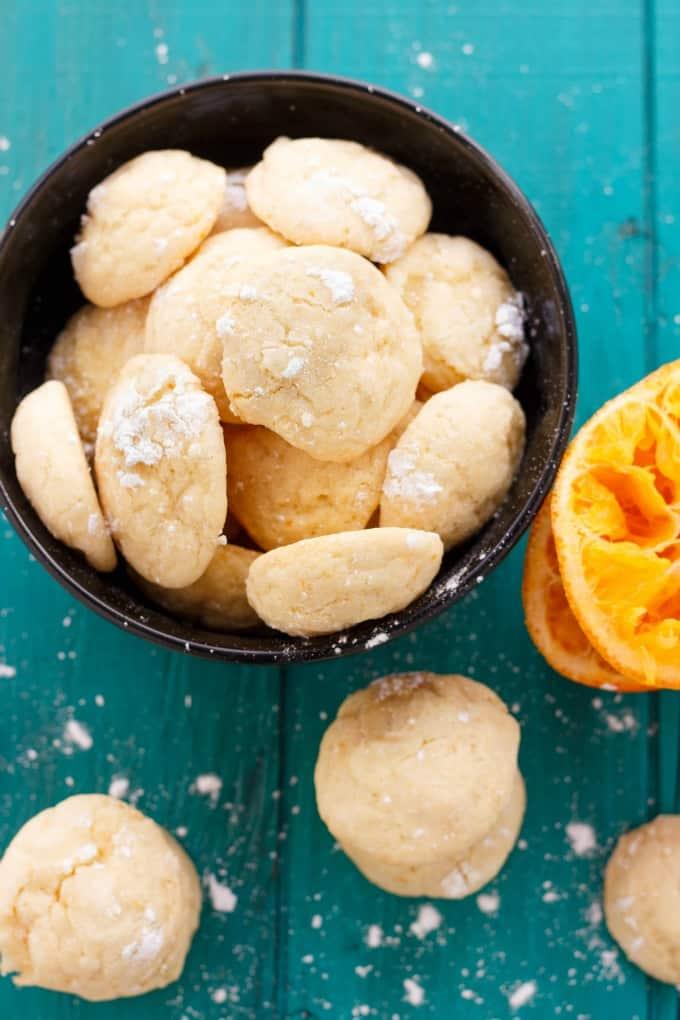 Orange Cookie Crinkles #sugar