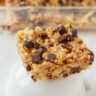 Peanut Butter and Chocolate Gluten-Free Rice Krispies Squares