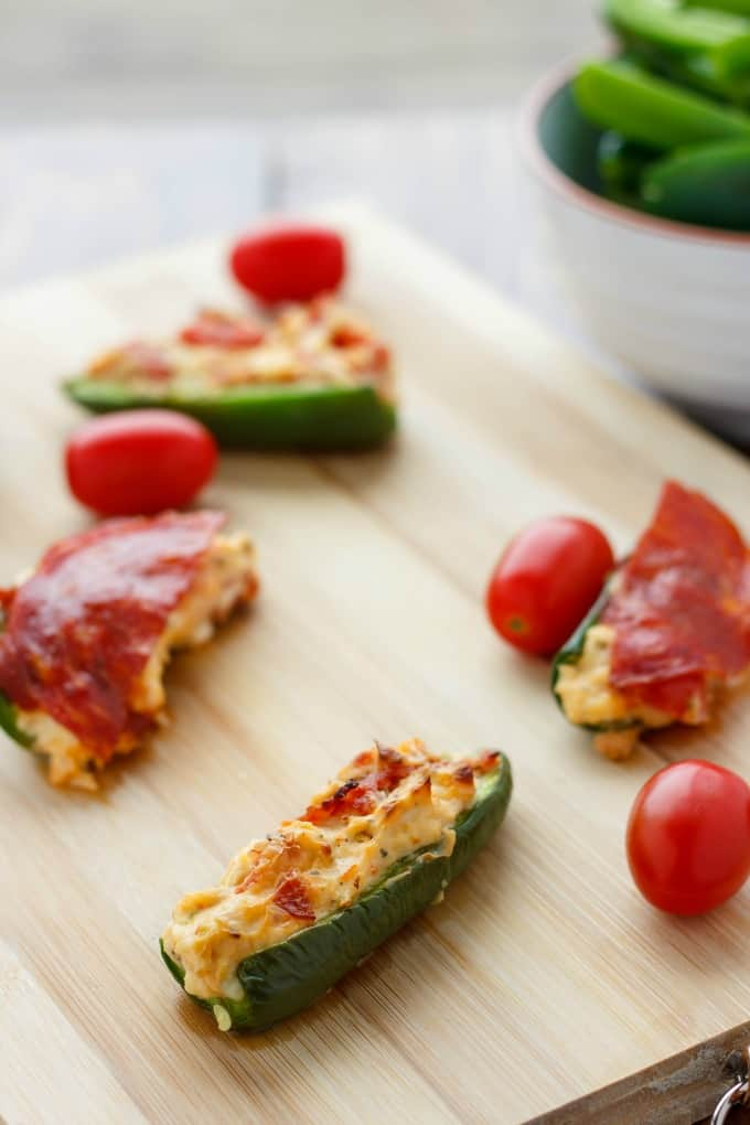 Pizza Stuffed Jalapenos #appetizer