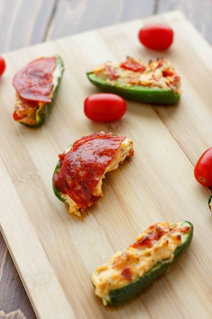 Pizza Stuffed Jalapenos #party