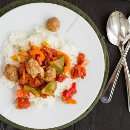 Sausage and Peppers over Rice 5