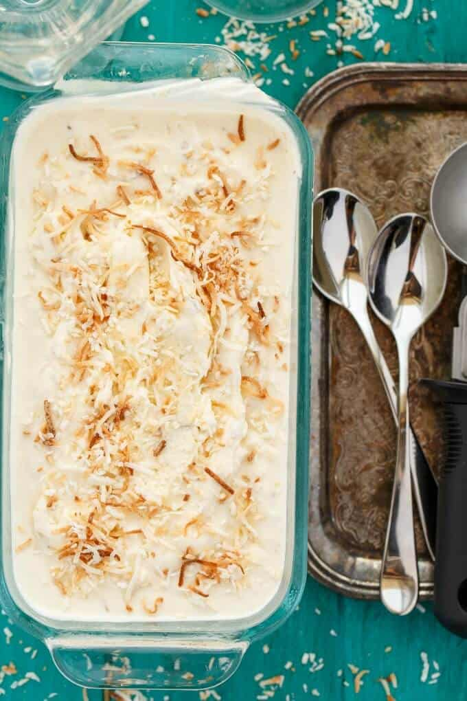 Toasted Coconut Ice Cream #icecream