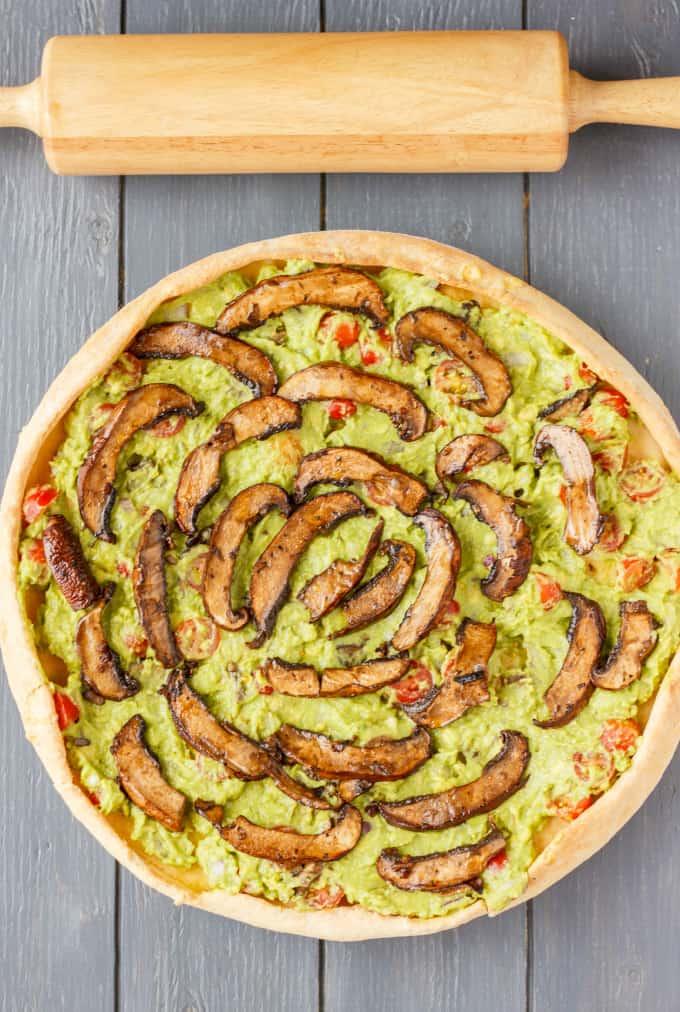 Vegan Guacamole Pizza 2