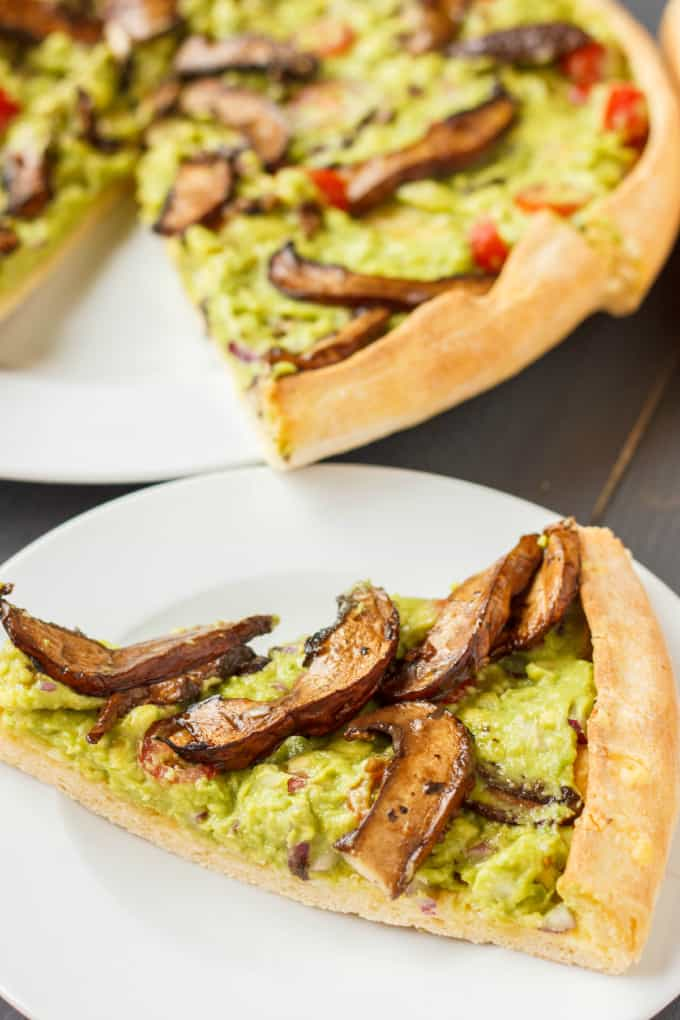 Vegan Guacamole Pizza 3